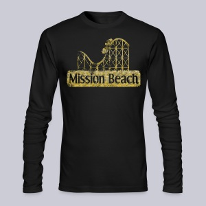 Vintage Mission Beach - Men's Long Sleeve T-Shirt by Next Level