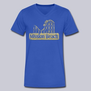 Vintage Mission Beach - Men's V-Neck T-Shirt by Canvas