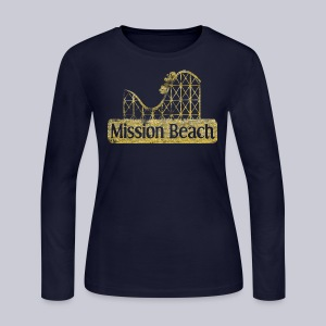 Vintage Mission Beach - Women's Long Sleeve Jersey T-Shirt