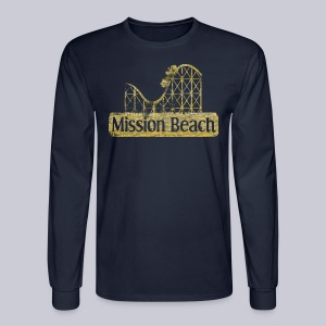Vintage Mission Beach - Men's Long Sleeve T-Shirt
