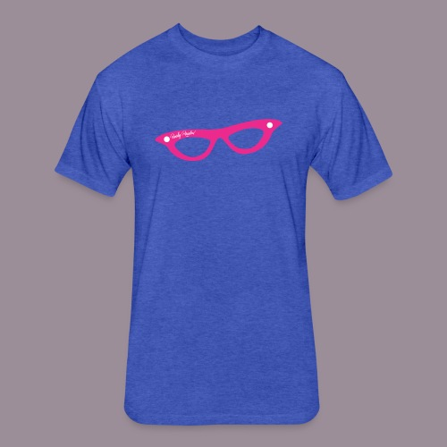 PINK GLASSES FITTED T MEN - Fitted Cotton/Poly T-Shirt by Next Level