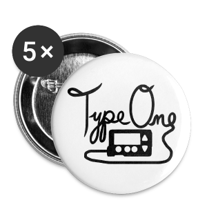 Type One  - Pump Design 1 - Black - Large Buttons