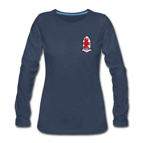 VFA-22 REDCOCKS LONG SLEEVE SHIRT - WOMENS - Women's Premium Long Sleeve T-Shirt