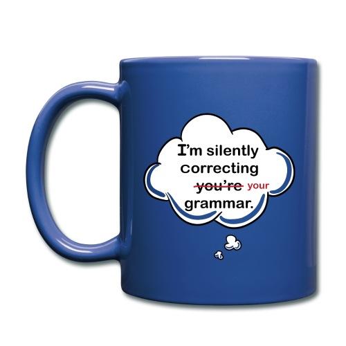 Silently Correcting Grammar Mug - Full Color Mug