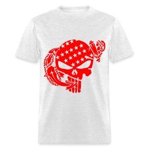 Skull & Anchor Marine     ©WhiteTigerLLC.com - Men's T-Shirt