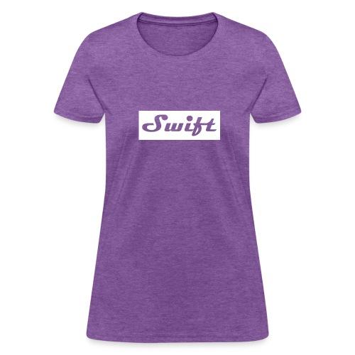 womans white script tee - Women's T-Shirt