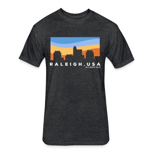 Raleigh Skyline - Fitted Cotton/Poly T-Shirt by Next Level