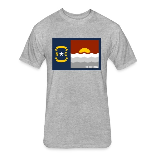 NC Beach Flag T-Shirt - Fitted Cotton/Poly T-Shirt by Next Level