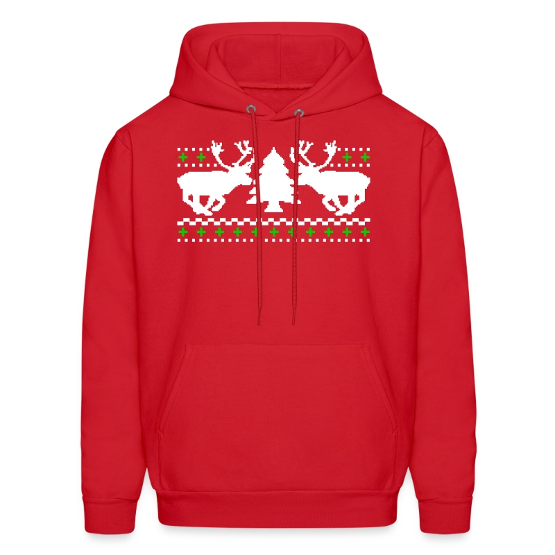 Funny! Ugly Christmas Sweater Hoodie | RobotFace T-Shirts