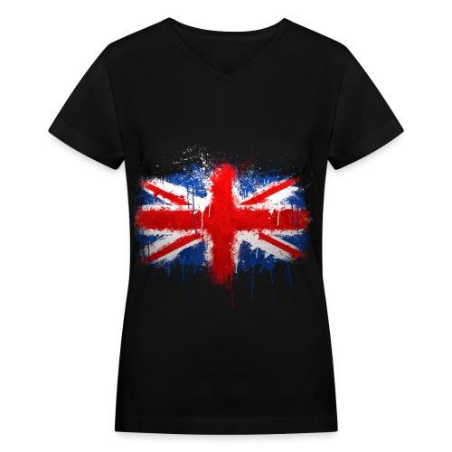 UK - Women's V-Neck T-Shirt