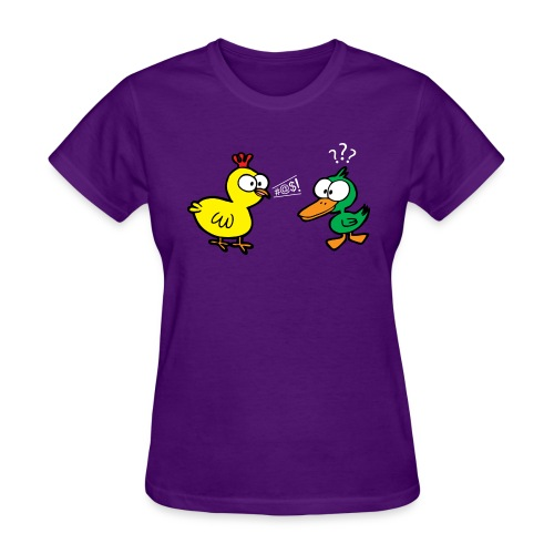 Chicken Talks to Duck! Women's Tee - Women's T-Shirt