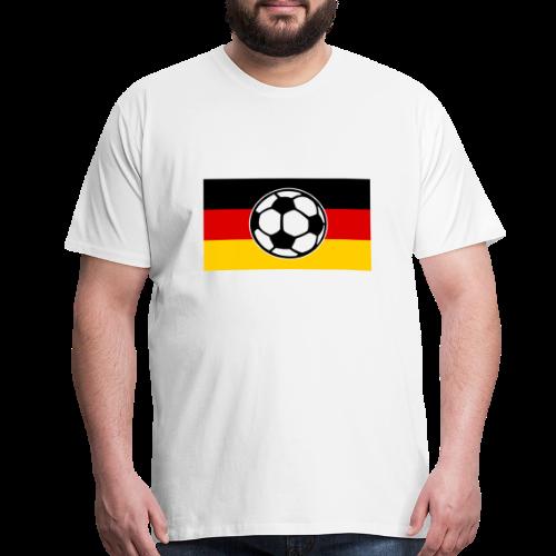 Soccer Germany Flag T-Shirt - Men's Premium T-Shirt