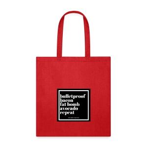 Keto.Rinse.Repeat. Reusable Grocery Bag - Tote Bag