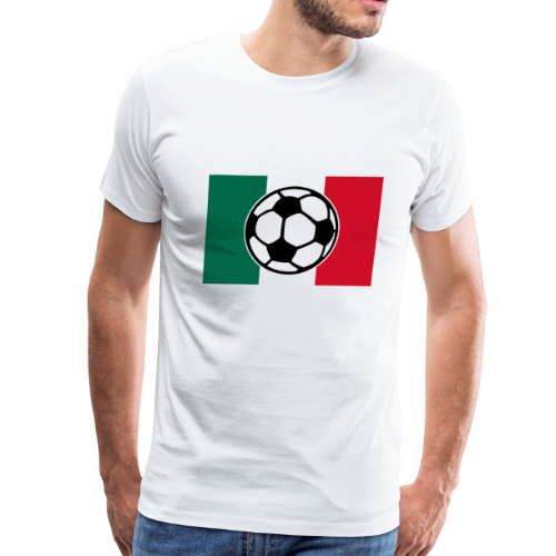 Soccer Mexico Flag T-Shirt - Men's Premium T-Shirt