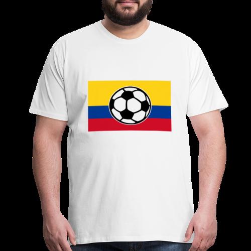Soccer Colombia Flag T-Shirt - Men's Premium T-Shirt