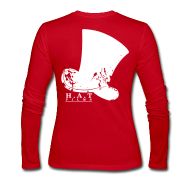 Long Sleeve Shirts ~ Women's Long Sleeve Jersey T-Shirt ~ Official Hat Films Front (White Logo)