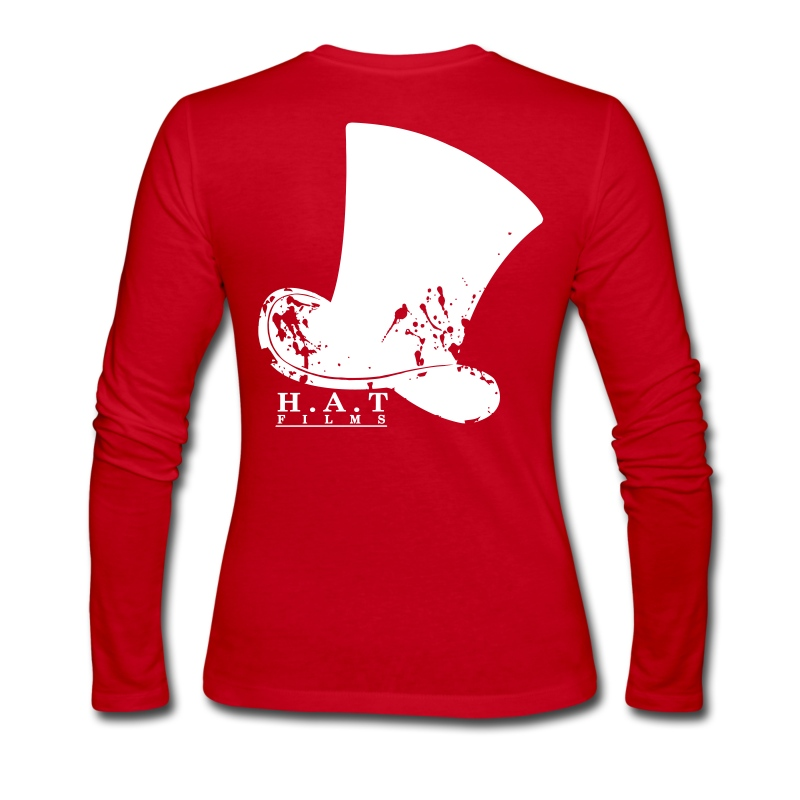 Official Hat Films Front (White Logo) - Women's Long Sleeve Jersey T-Shirt