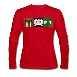 Hatventures Pixel Faces Long Sleeve Womens - Women's Long Sleeve Jersey T-Shirt