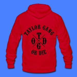 Taylor Gang or Die Zip Hoodies/Jackets - Unisex Fleece Zip Hoodie by American Apparel
