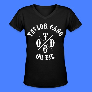 Taylor Gang or Die Women's T-Shirts - Women's V-Neck T-Shirt