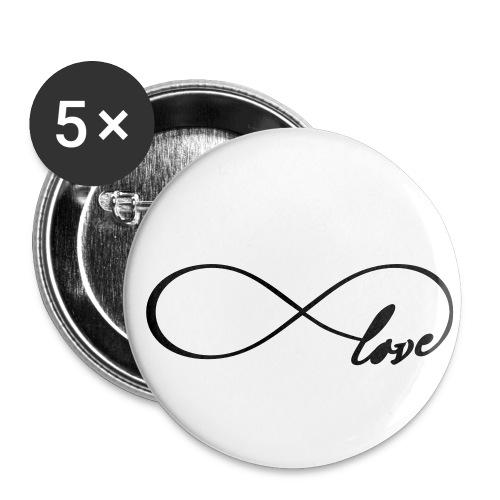 Love Infinity buttons - Buttons small 1'' (5-pack)