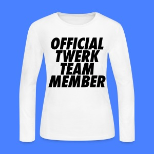 Official Twerk Team Member Long Sleeve Shirts - Women's Long Sleeve Jersey T-Shirt