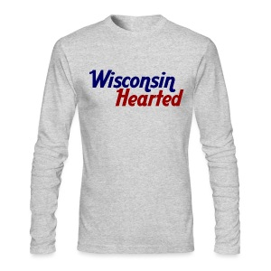 Wisconsin Hearted - Men's Long Sleeve T-Shirt by Next Level