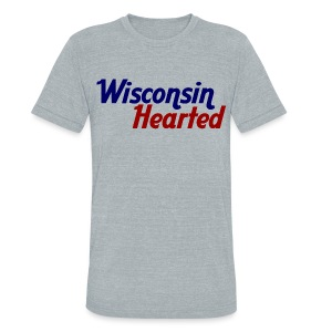 Wisconsin Hearted - Unisex Tri-Blend T-Shirt by American Apparel