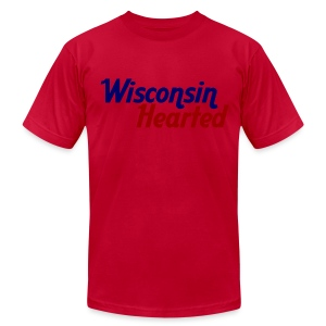 Wisconsin Hearted - Men's T-Shirt by American Apparel