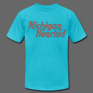 Michigan Hearted - Men's T-Shirt by American Apparel