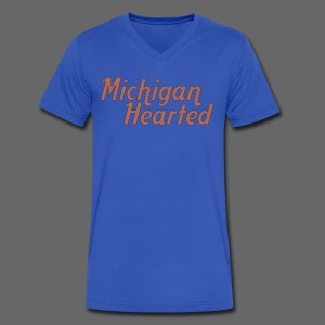 Michigan Hearted - Men's V-Neck T-Shirt by Canvas