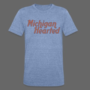 Michigan Hearted - Unisex Tri-Blend T-Shirt by American Apparel
