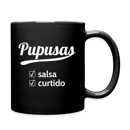 Pupusas Salsa Mug Black - Full Color Mug