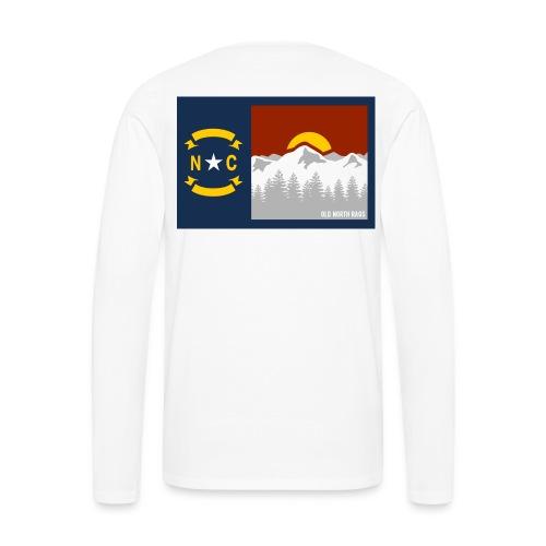NC Mountains Flag Long Sleeve T-Shirt - Men's Premium Long Sleeve T-Shirt