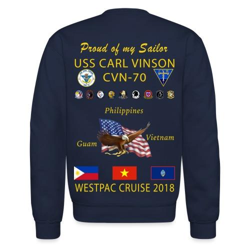 USS CARL VINSON 2018 CRUISE SWEATSHIRT - FAMILY - Crewneck Sweatshirt