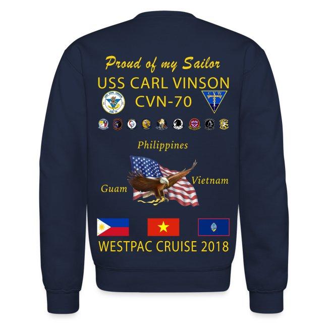 USS CARL VINSON 2018 CRUISE SWEATSHIRT - FAMILY