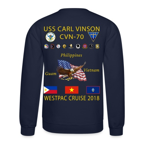 USS CARL VINSON 2018 CRUISE SWEATSHIRT - Crewneck Sweatshirt