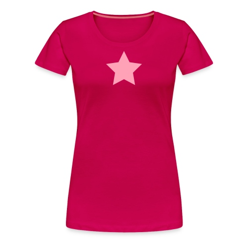 Pink Star on Dark Pink - Women's Premium T-Shirt