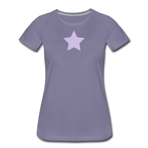 Lavender Star on Washed Violet - Women's Premium T-Shirt