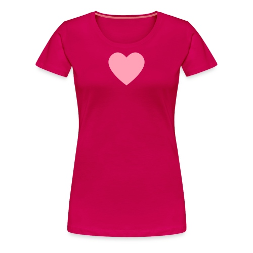 Pink Heart on Dark Pink - Women's Premium T-Shirt