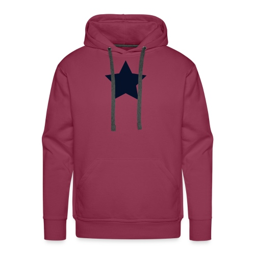 Black Glitz Star on Burgundy - Men's Premium Hoodie