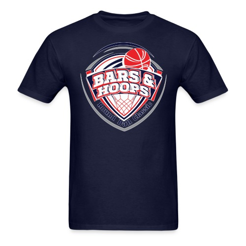 BARS & HOOPS COMMISSIONER SHIRT - Men's T-Shirt