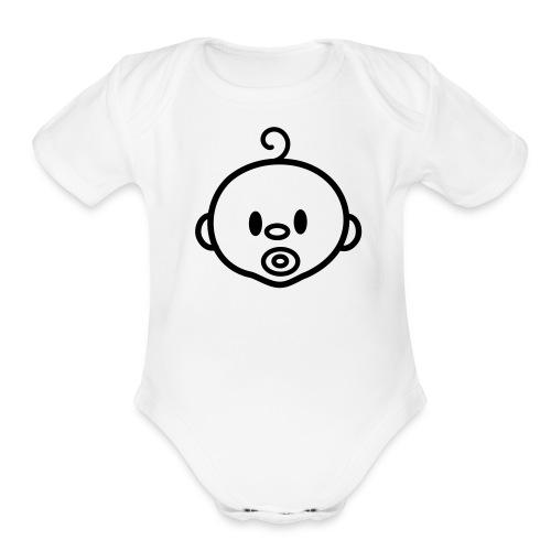 Baby Fresh Short Sleeve One Piece (Check My Fresh Brand) - Organic Short Sleeve Baby Bodysuit