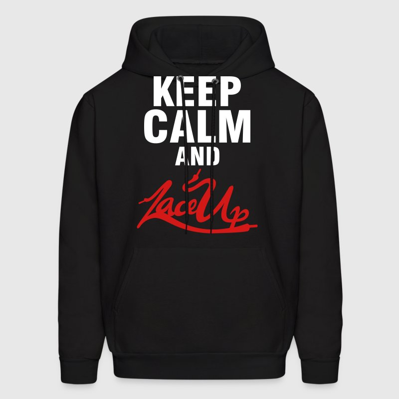 Keep Calm and Lace Up Hoodies - Men's Hoodie