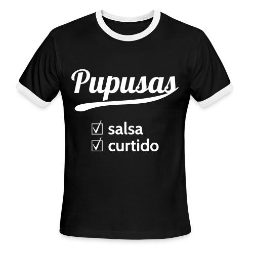 Pupusas Salsa Curtido Men's Ringer T-Shirt - Men's Ringer T-Shirt