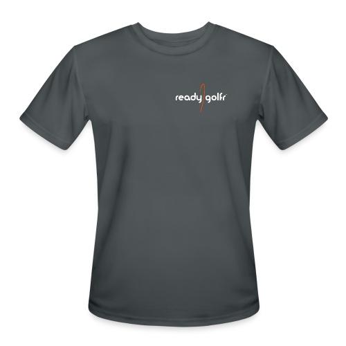 ReadyGolfr workout shirt (dk grey) - Men's Moisture Wicking Performance T-Shirt