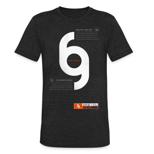 ReadyGolfr Distressed Infographic tee Amer. Apparel - Unisex Tri-Blend T-Shirt