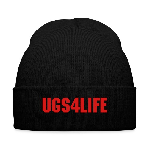 UGS4LIFE Black-Red Beanie - Knit Cap with Cuff Print