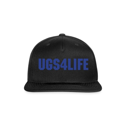 UGS4LIFE Black-Blue Snap Back Hat - Snap-back Baseball Cap
