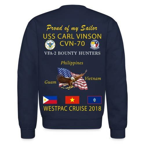 VFA-2 w/ USS CARL VINSON 2018 CRUISE SWEATSHIRT - FAMILY - Crewneck Sweatshirt